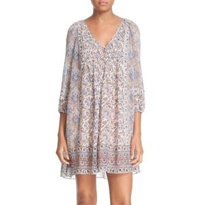 Joie Foxley floral print silk peasant dress
